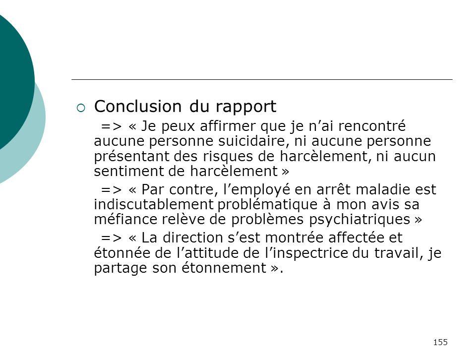 Conclusion du rapport
