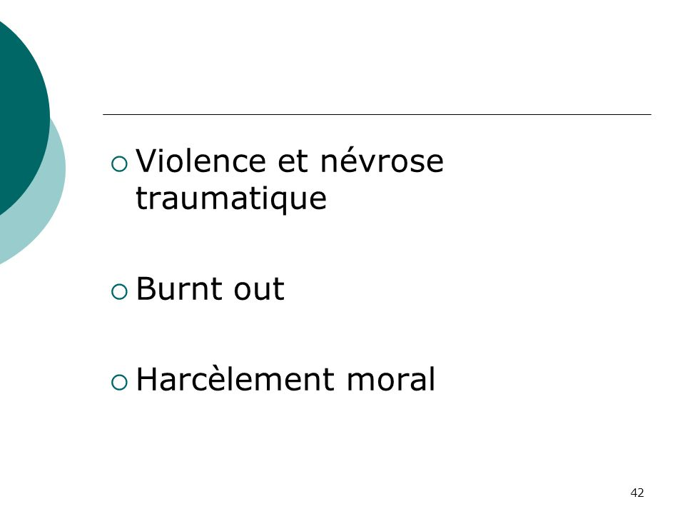 Violence et névrose traumatique