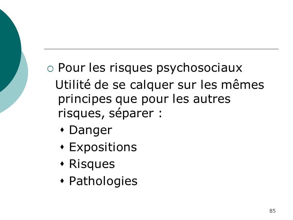Pour les risques psychosociaux