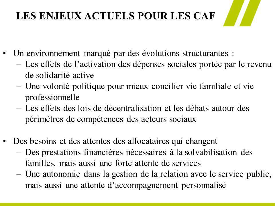 LES ENJEUX ACTUELS POUR LES CAF
