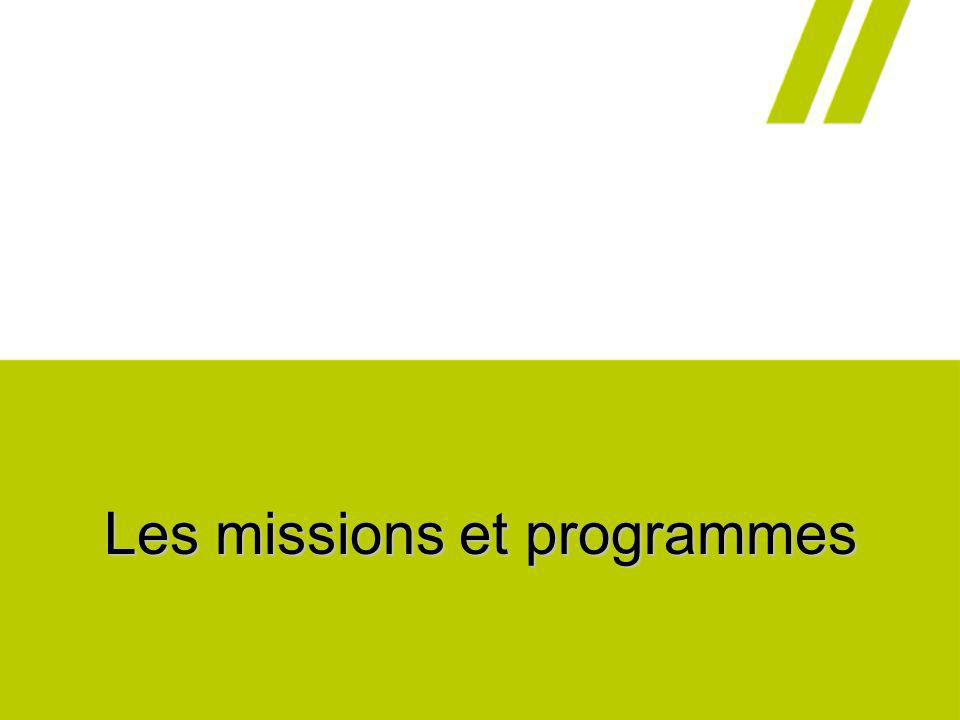 Les missions et programmes