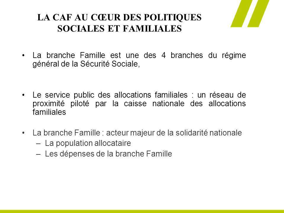 LA CAF AU CŒUR DES POLITIQUES SOCIALES ET FAMILIALES