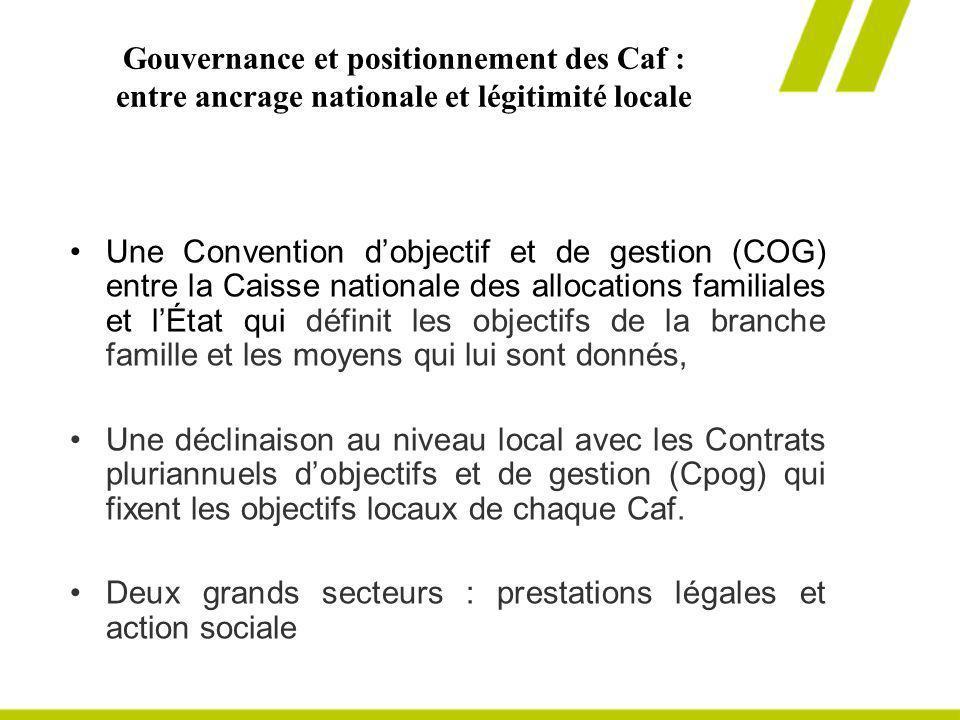 Gouvernance et positionnement des Caf : entre ancrage nationale et légitimité locale