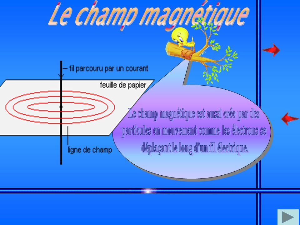 Le champ magnétique Le champ magnétique est aussi crée par des