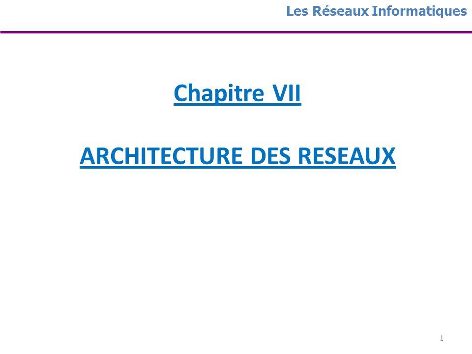 Chapitre VII ARCHITECTURE DES RESEAUX
