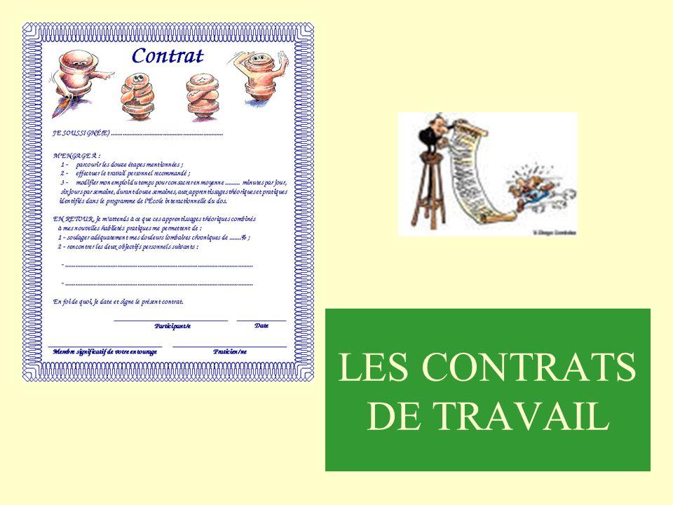 LES CONTRATS DE TRAVAIL