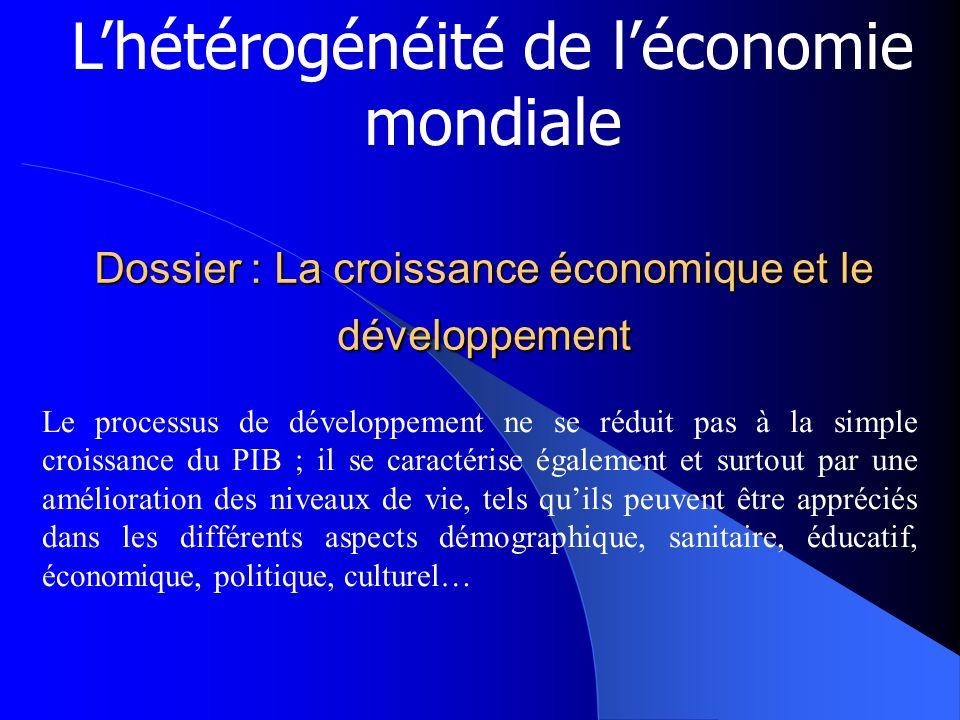 Dossier : La croissance économique et le développement