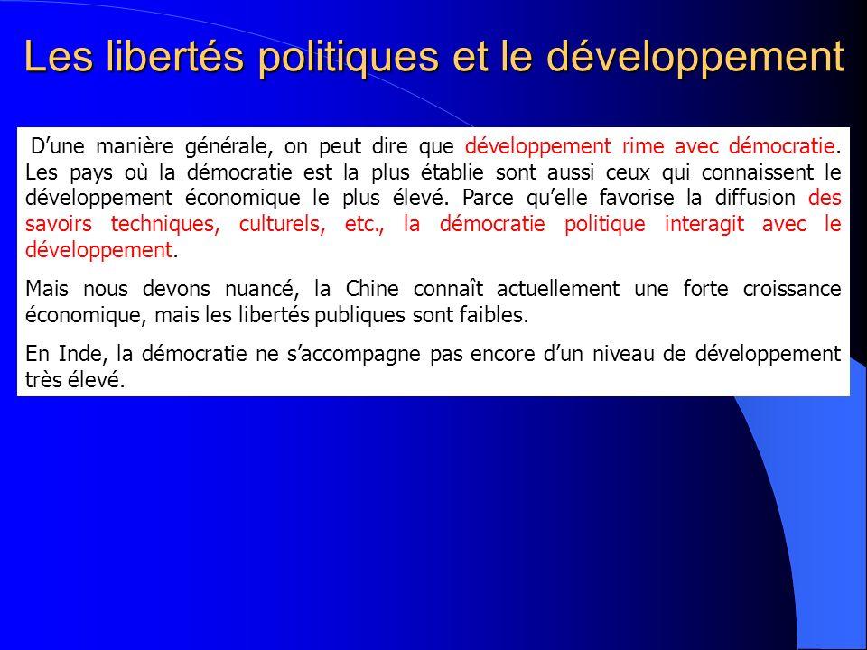 Les libertés politiques et le développement