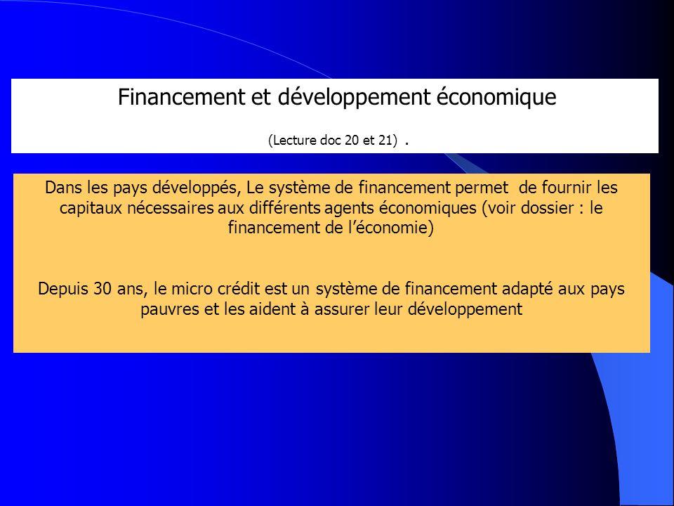 Financement et développement économique