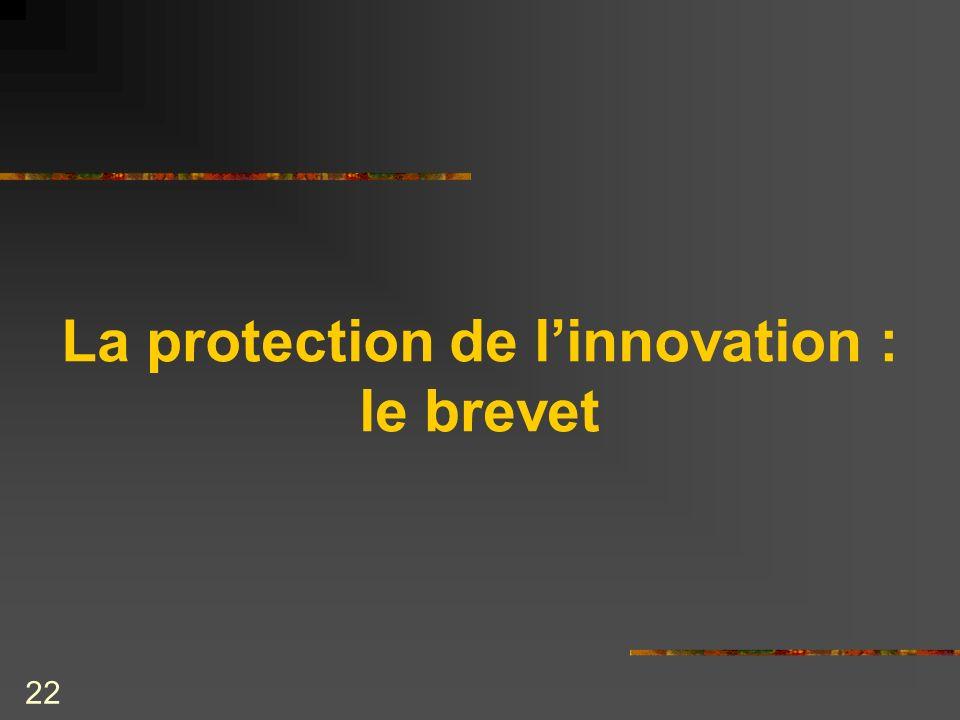 La protection de l'innovation : le brevet