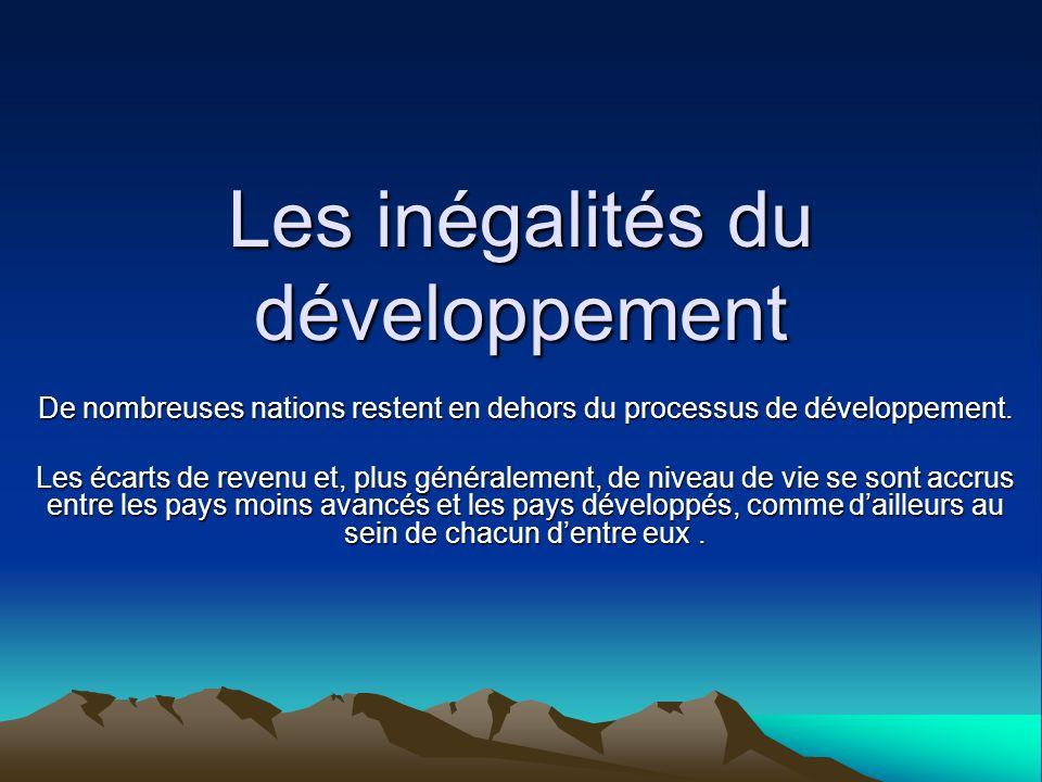 Les inégalités du développement
