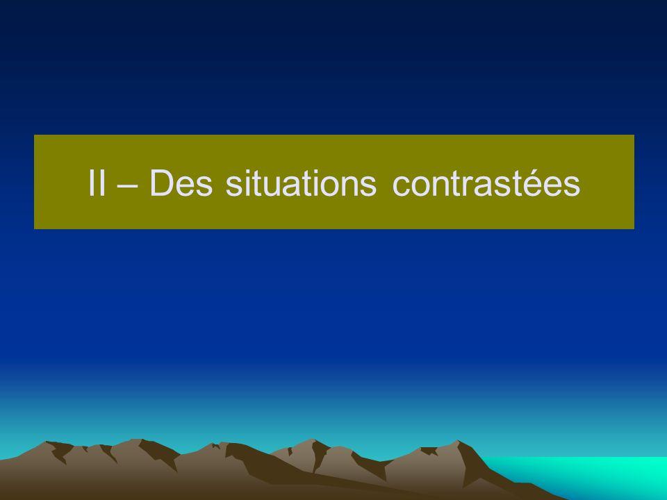 II – Des situations contrastées
