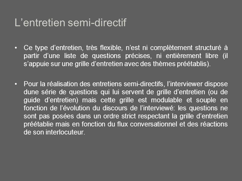 L'entretien semi-directif