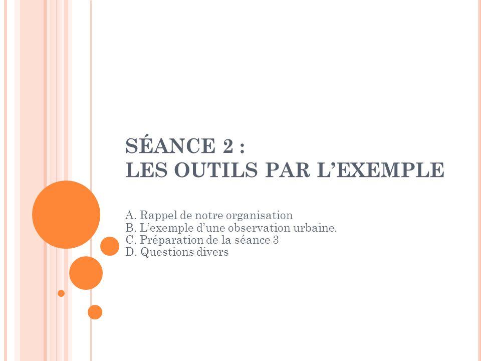 SÉANCE 2 : LES OUTILS PAR L'EXEMPLE