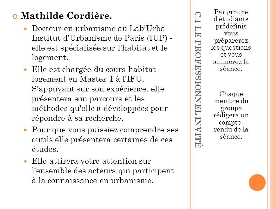 C.1 LE PROFESSIONNEL INVITÉ