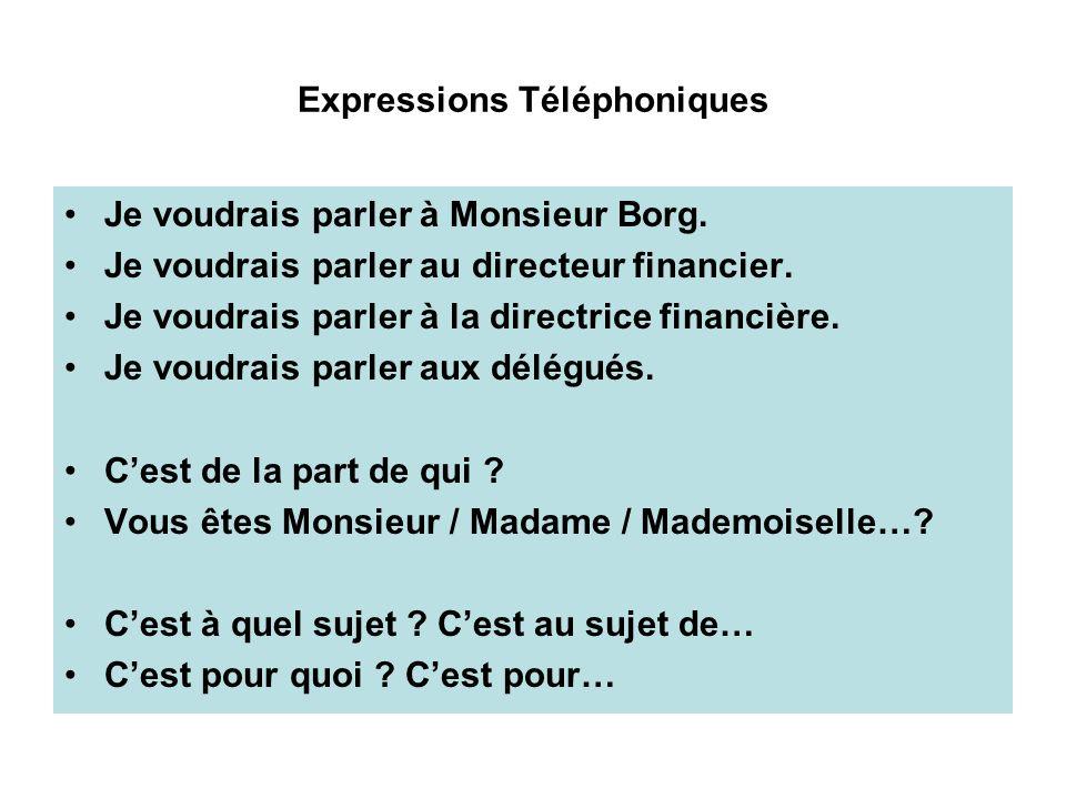 Expressions Téléphoniques