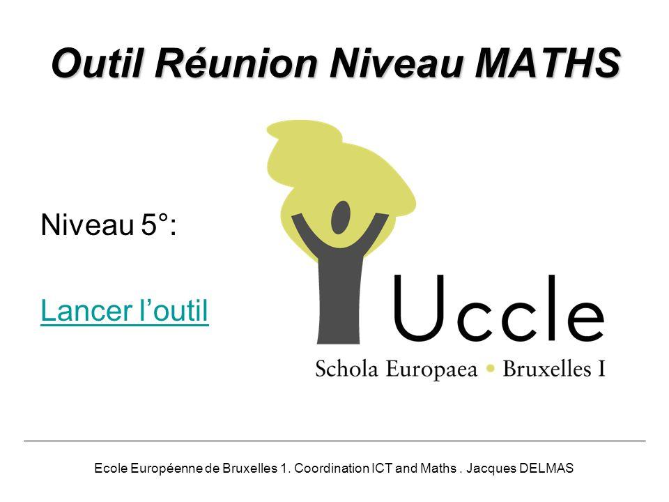 Outil Réunion Niveau MATHS