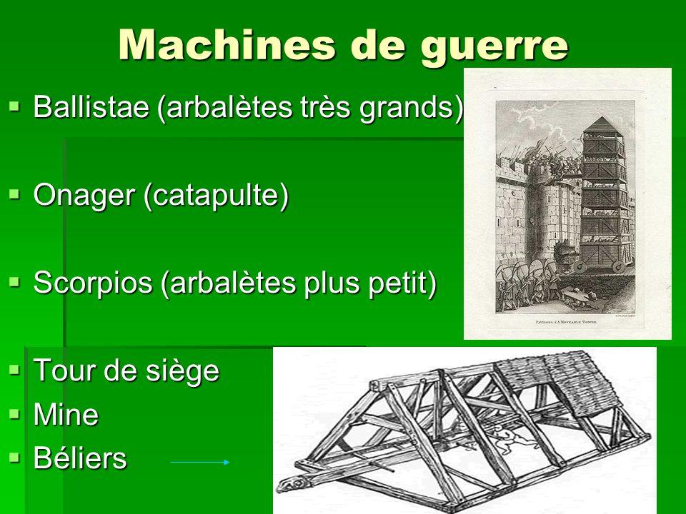 Machines de guerre Ballistae (arbalètes très grands)