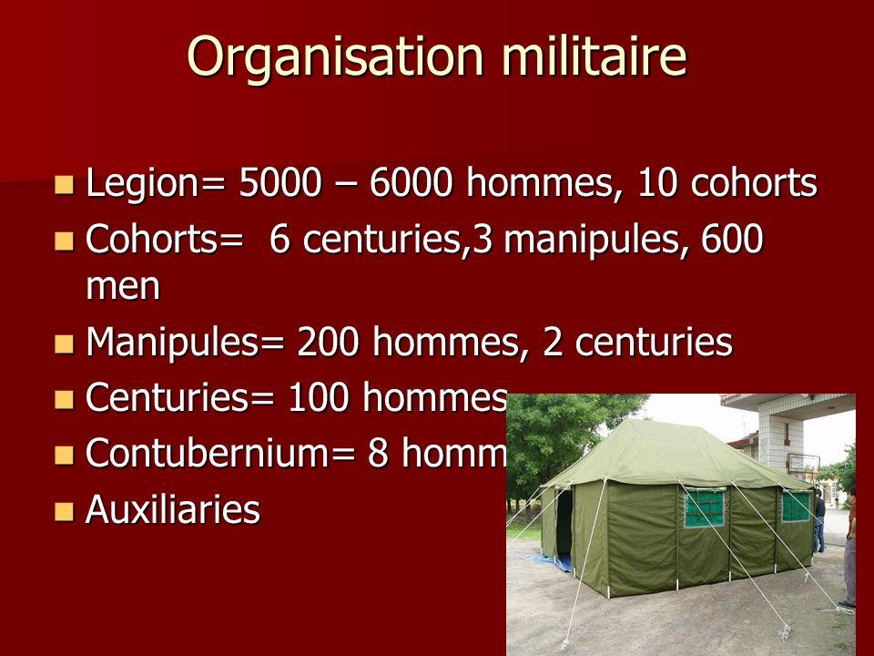 Organisation militaire