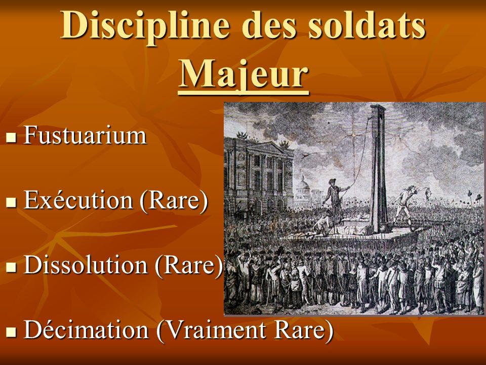 Discipline des soldats Majeur