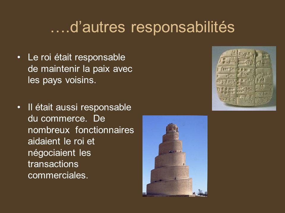 ….d'autres responsabilités