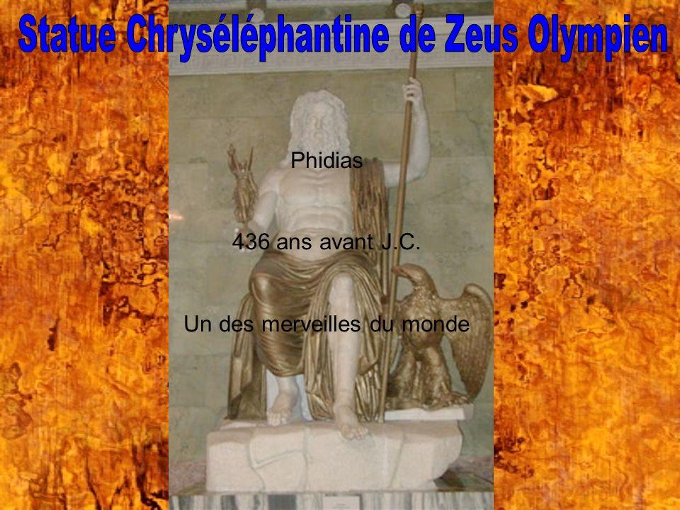 Statue Chryséléphantine de Zeus Olympien