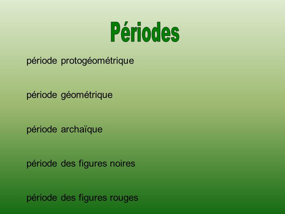 Périodes période protogéométrique période géométrique