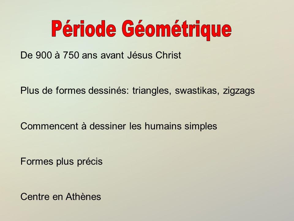 Période Géométrique De 900 à 750 ans avant Jésus Christ
