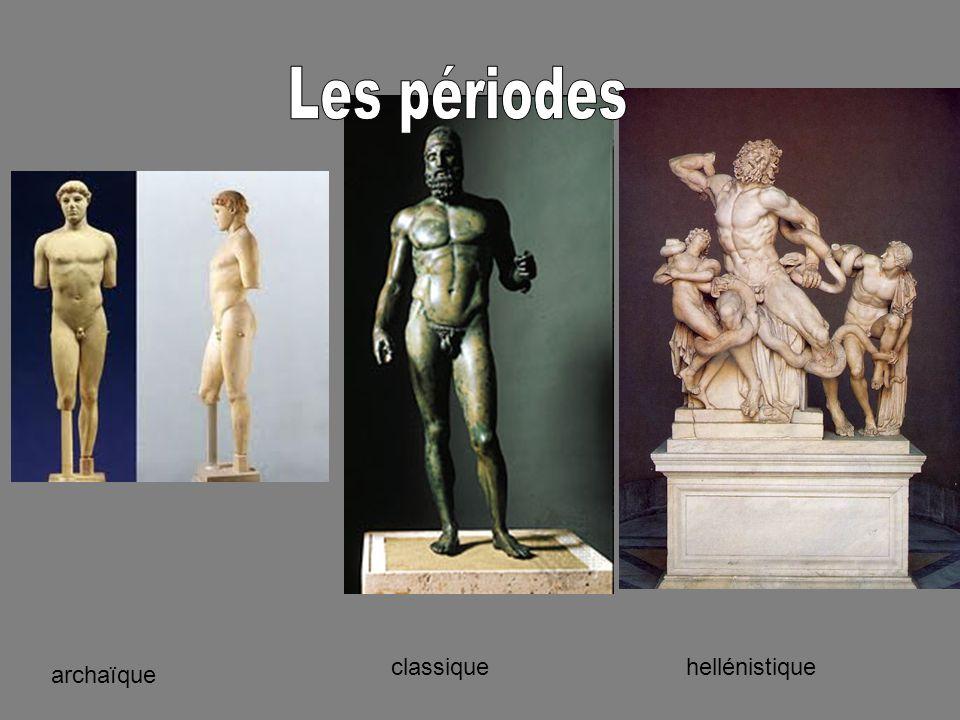 Les périodes hellénistique classique archaïque
