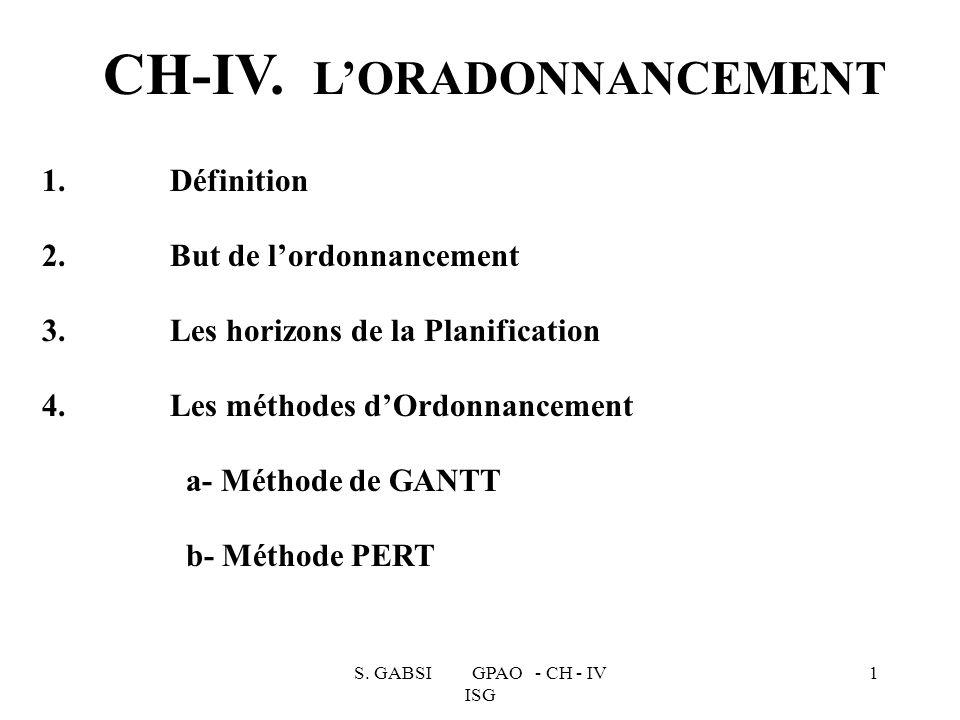 CH-IV. L'ORADONNANCEMENT