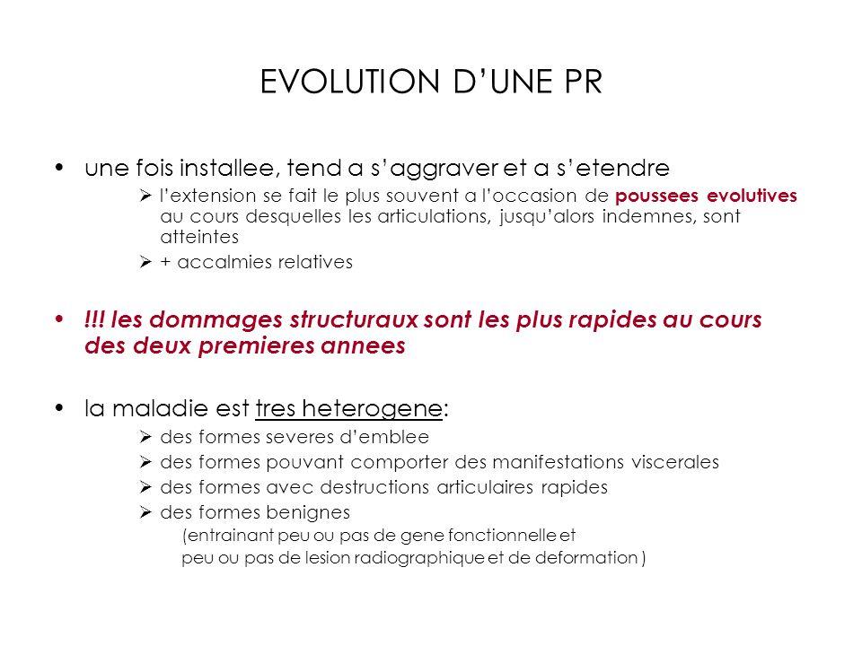 EVOLUTION D'UNE PR une fois installee, tend a s'aggraver et a s'etendre.