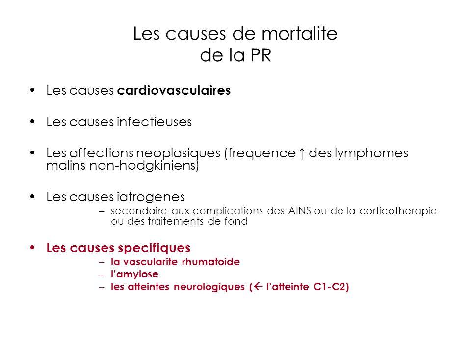 Les causes de mortalite de la PR