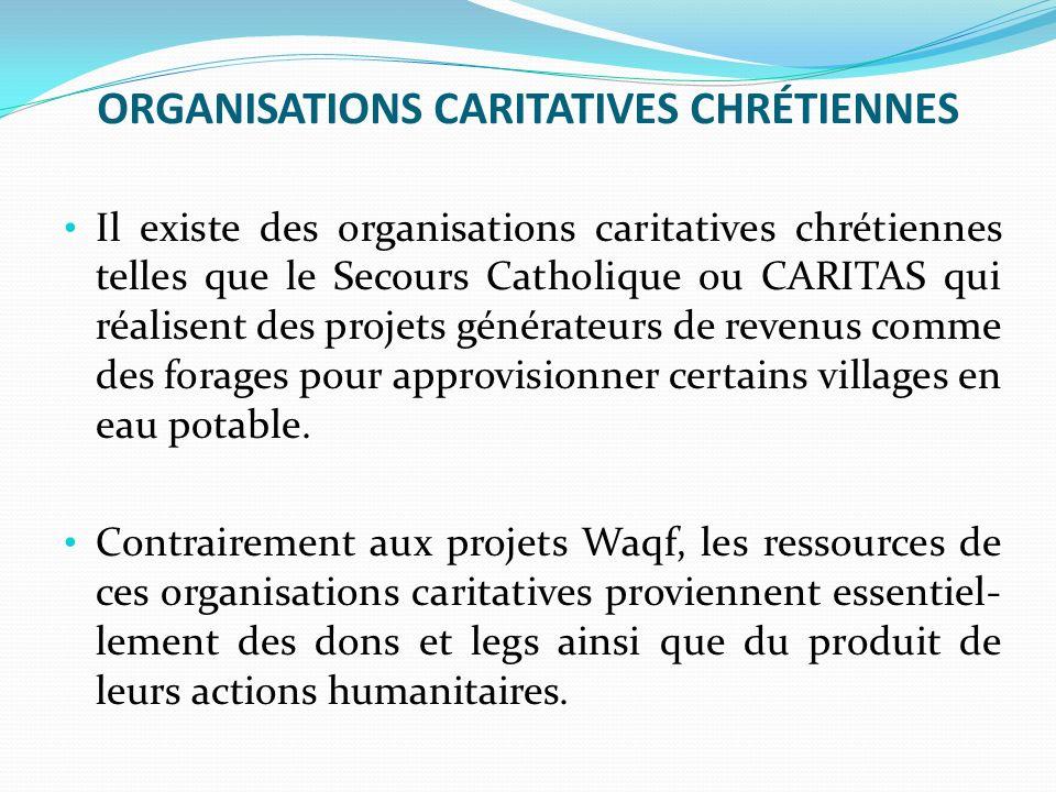 ORGANISATIONS CARITATIVES CHRÉTIENNES
