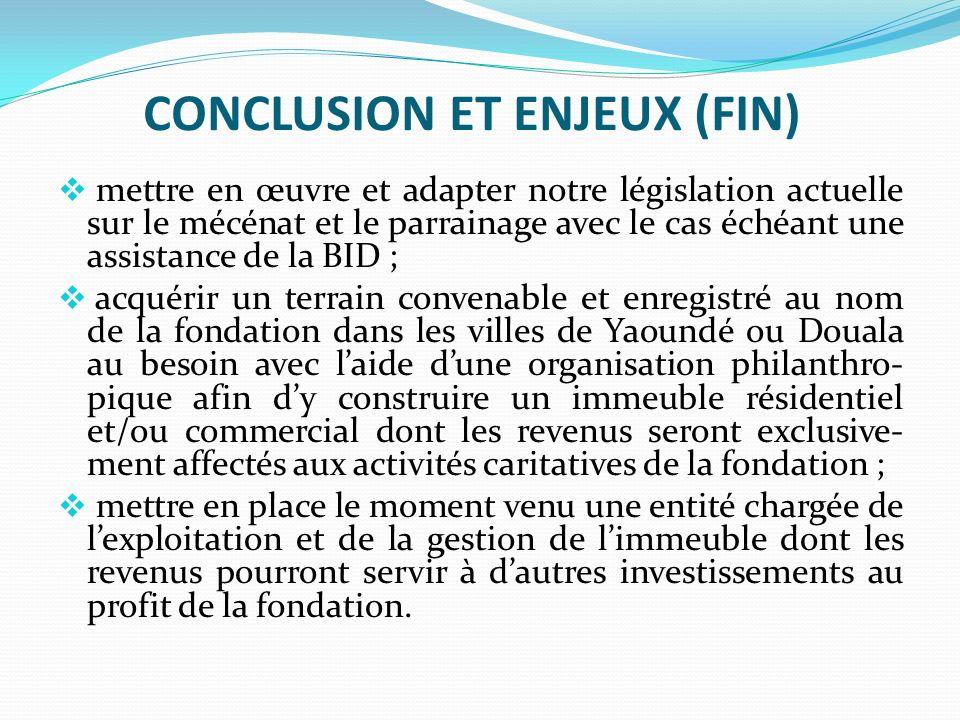 CONCLUSION ET ENJEUX (FIN)