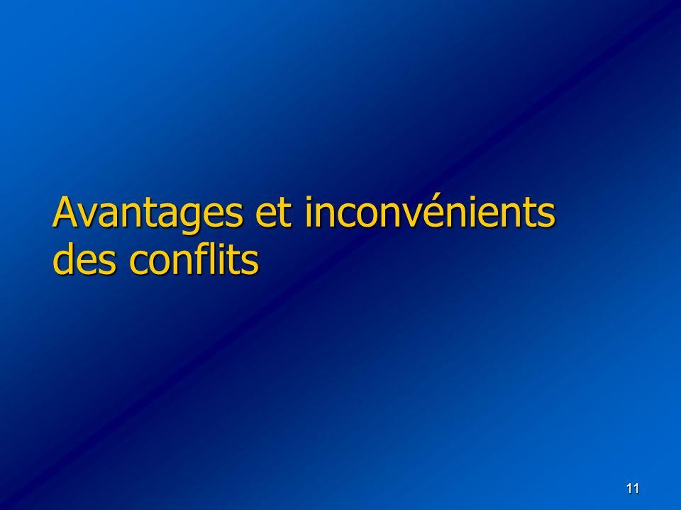 Avantages et inconvénients des conflits