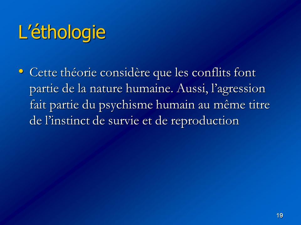 L'éthologie