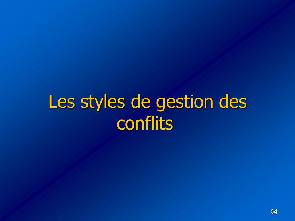 Les styles de gestion des conflits