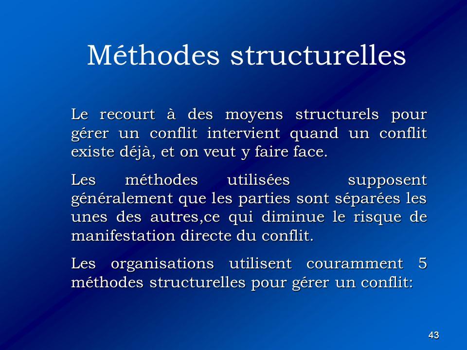 Méthodes structurelles