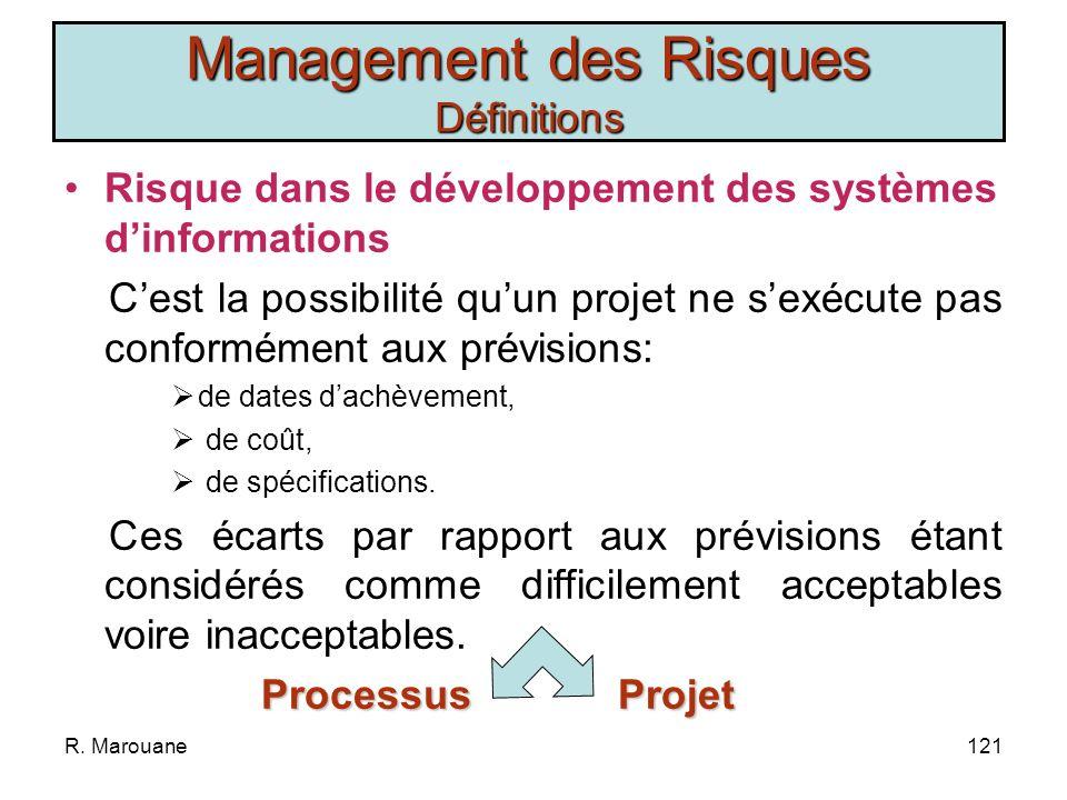 Management des Risques Définitions