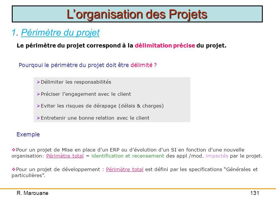 Le périmètre du projet correspond à la délimitation précise du projet.