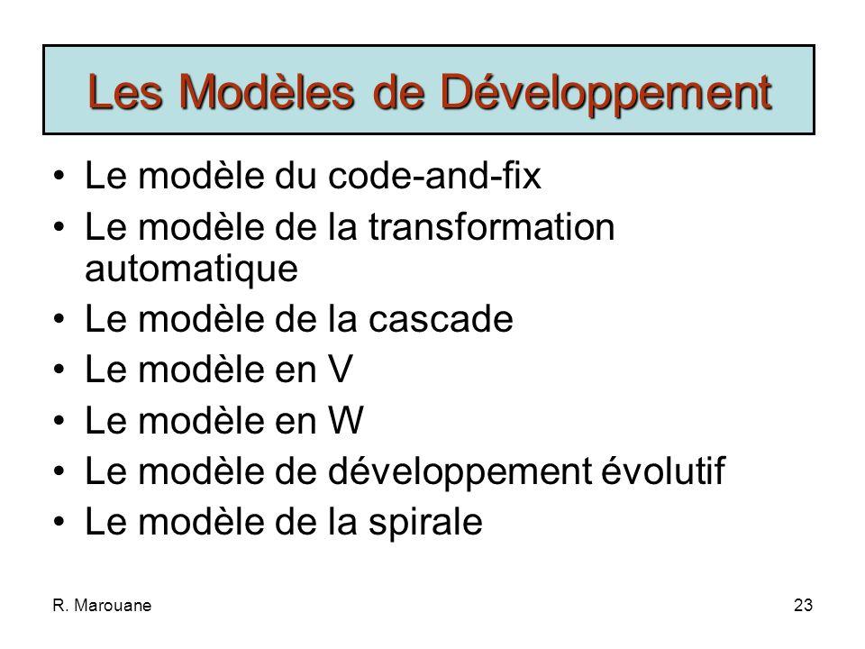 Les Modèles de Développement