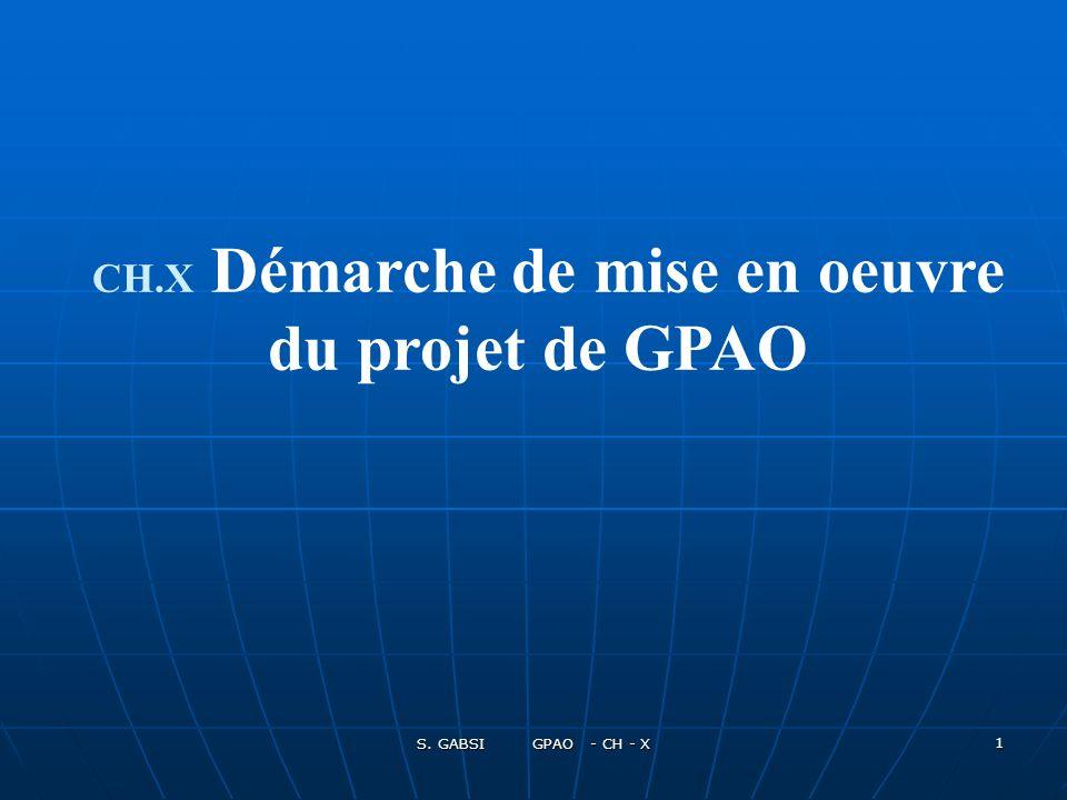 CH.X Démarche de mise en oeuvre du projet de GPAO
