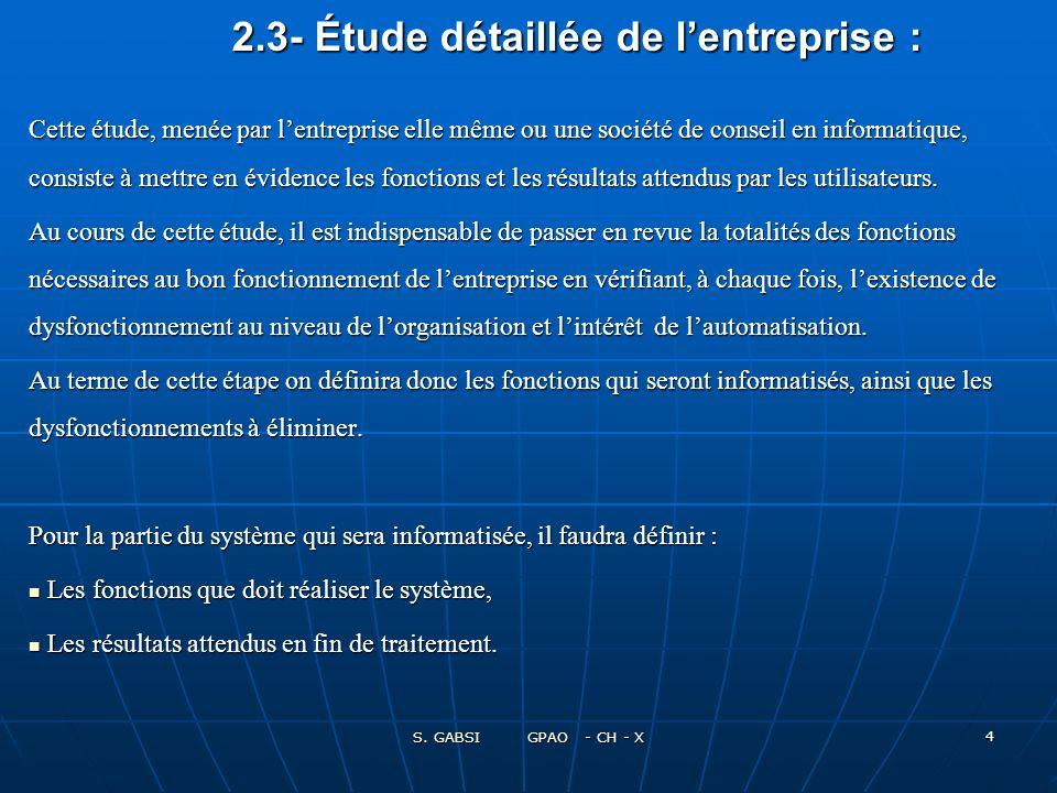2.3- Étude détaillée de l'entreprise :