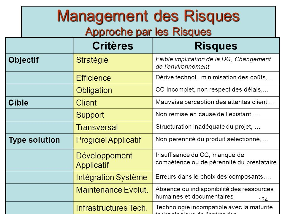 Management des Risques Approche par les Risques