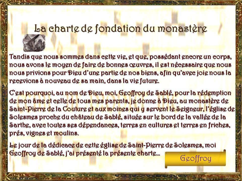 La charte de fondation du monastère