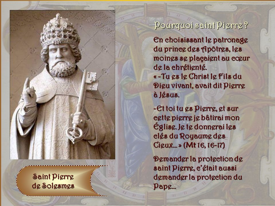 Pourquoi saint Pierre