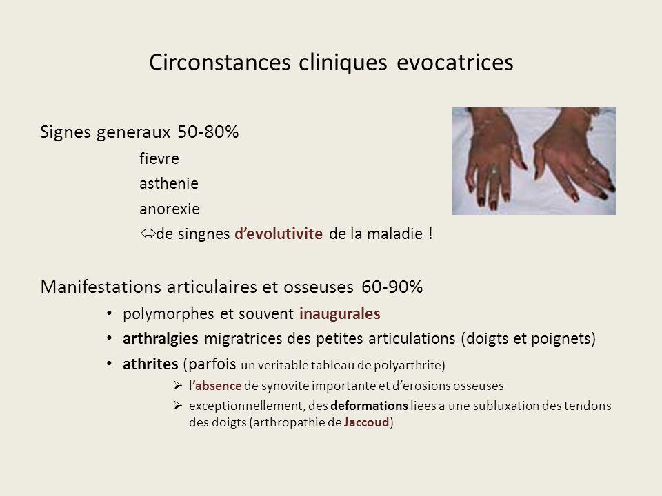 Circonstances cliniques evocatrices