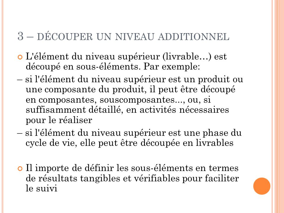 3 – découper un niveau additionnel