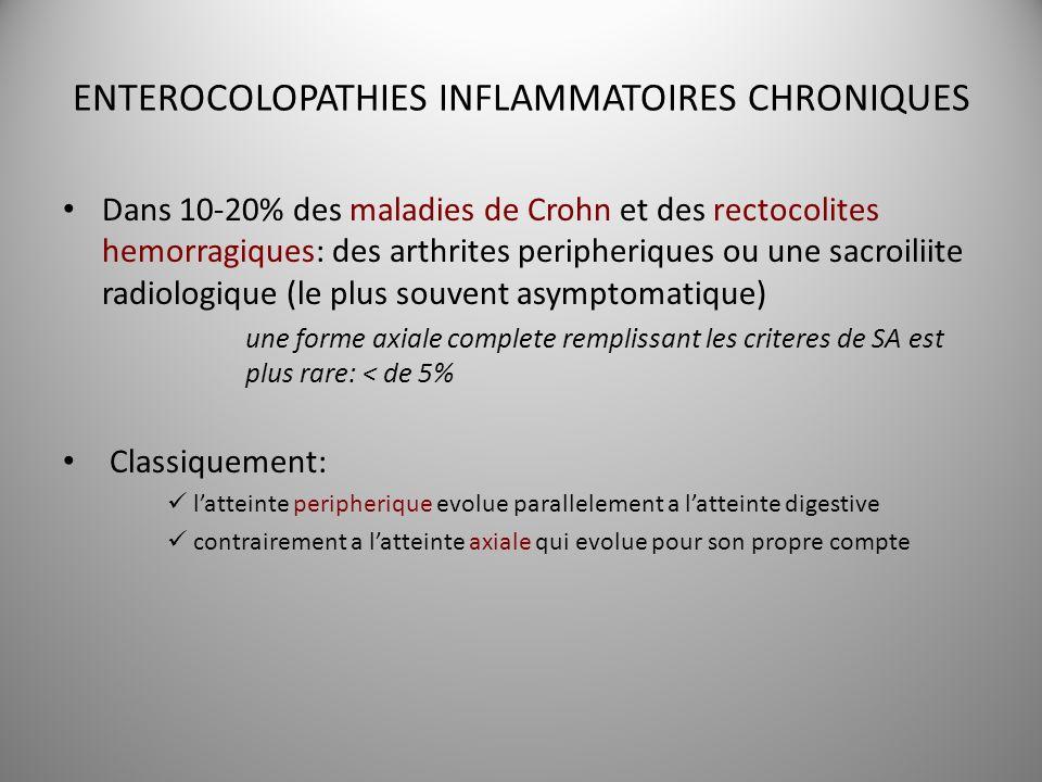 ENTEROCOLOPATHIES INFLAMMATOIRES CHRONIQUES