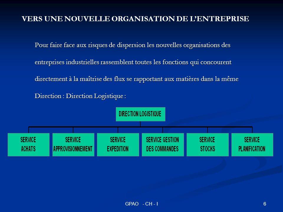 VERS UNE NOUVELLE ORGANISATION DE L'ENTREPRISE